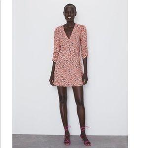 Zara mini floral dress